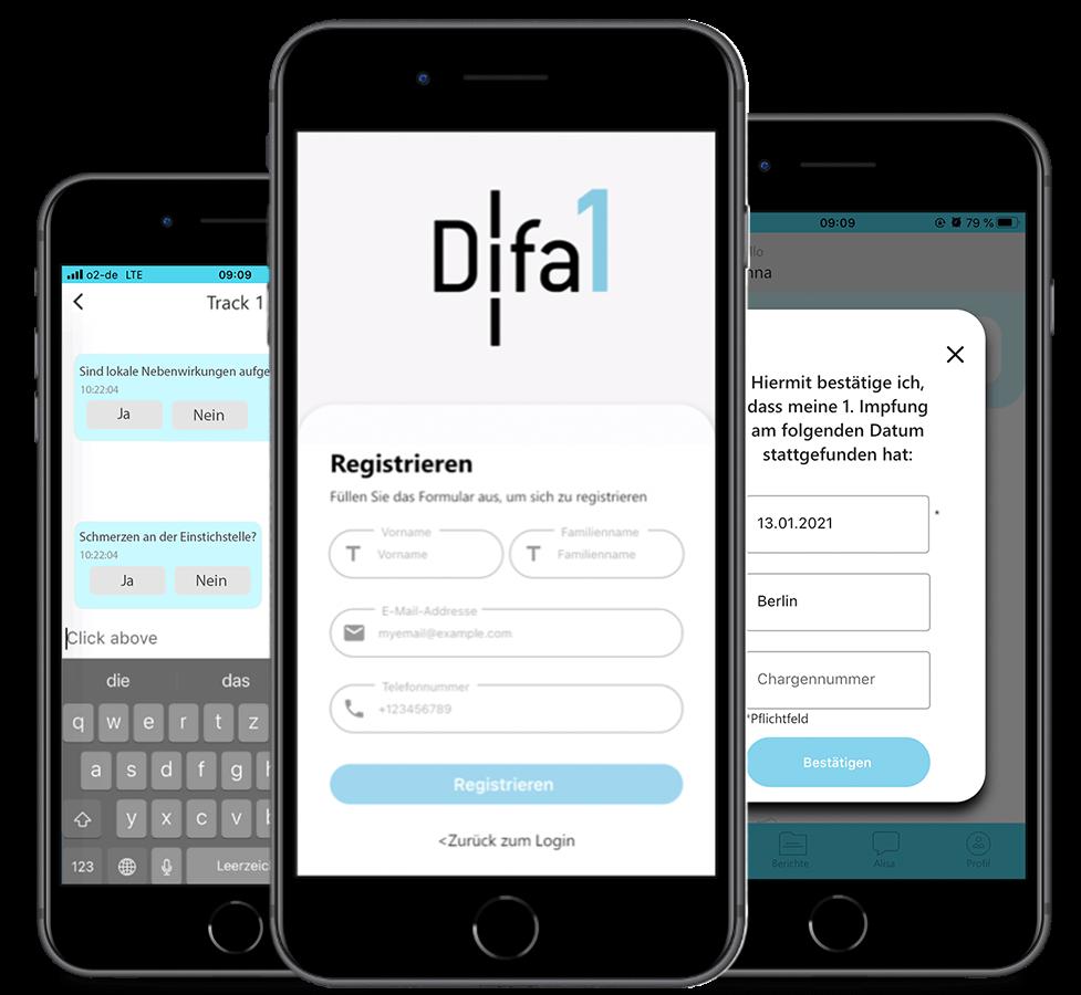 DIFA1 App Screenshots